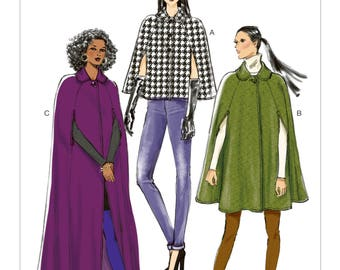 Pick Your Size - Vogue Cape Pattern V8959 -  Misses' Round Collar Capes in Three Variations - Very Easy Vogue Patterns