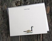 Goose Bird Custom Stationery Notecards, Canadian Goose Stationery. Thank You, Any Occasion, Personalize Watercolor Print, Set of 10.