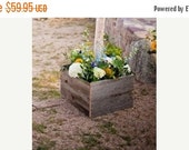 ON SALE 2 Weathered Look  Wood Boxes for Three Piece Arch