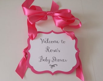 Baby Shower Welcome Sign for your Party Entry Way to Greet Your Guests as they Arrive