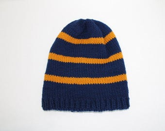 Harry Potter Hat Ravenclaw Knit Slouch Hat-Ravenclaw Book Colors