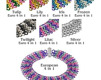 European 4-in-1 Chainmaille Bracelet Kit - Iris