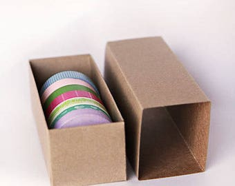 Set of 30- Kraft or White Slider Boxes- 6 5/16 x 2 1/4 x 2  inches ||  Macaroons, Cookie packaging, Party Favors, Toys, Soap Box, Washi Tape