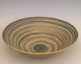Very large stoneware salad bowl