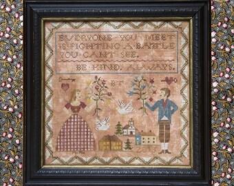 Be Kind Always : Cross Stitch Pattern by Heartstring Samplery