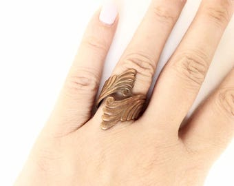 Solid copper ring vintage adjustable size