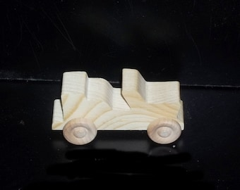 Birthday Party Pack 20 Wood Toy Jeeps BP-67AAH-U unfinished or finished
