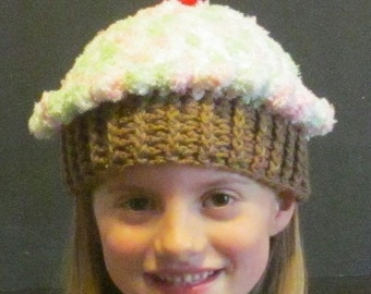 Crochet Cupcake Hat ~ Size Small