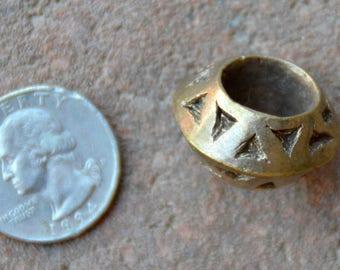 Antique Ethiopian Brass Ring Pendant