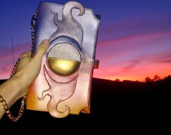 Sun and moon purse bag handmade handcrafted leather luxury handbag bag