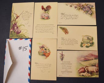Vintage postcards, FREE SHIPPING 17  cards, very early 1900's, Easter, Christmas, New Years, card-making, scrap-booking, paper crafts 004