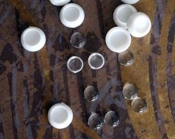 THREE PAIRS of Blank Acrylic 8mm Eyes for BJD Dolls