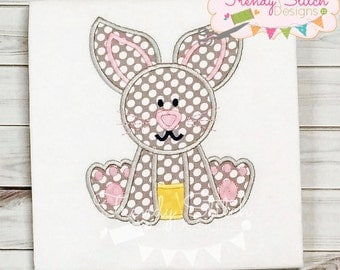 Bunny Baby Applique Machine Embroidery Design Easter INSTANT DOWNLOAD