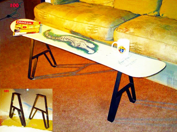 snowboard coffee table metal legs or snowboard bench legs. Black Bedroom Furniture Sets. Home Design Ideas