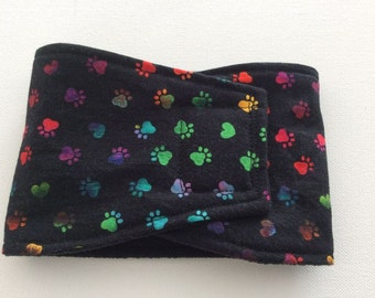 Dog Belly Band - Male Dog Diaper - Rainbow Hearts and Paws  - Available in all Sizes