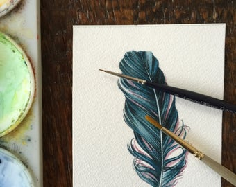 Blue Feather - feather study 652