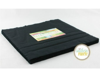 Bella Solids Black  for Moda Quilts- 1 Layer Cake