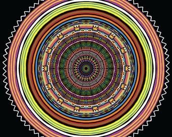 Circle Freak Out Mandala Print