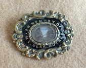 Victorian Mourning Brooch Hair In Memory of Dear Mother