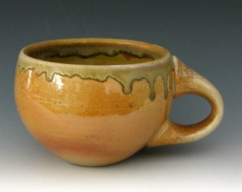 WOOD FIRED CUP #3 - Wood Fired Mug - Coffee Cup - Stoneware Cup - Latte Cup - Cappuccino Cup - Soup Mug - Wood Fired Pottery