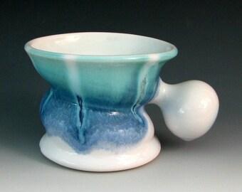 CERAMIC SHAVING MUG #6 - Stoneware Shaving Mug - Ceramic Shaving Cup - Shaving Bowl - Wet Shave - Shaving Lather - Shaving Soap
