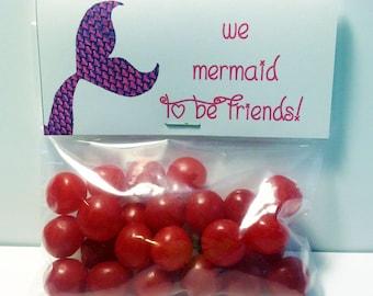 Mermaid Valentine Treat Bag Toppers ~ Printable gift labels