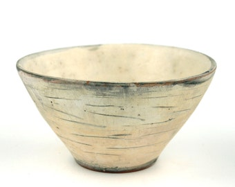 Bowl with Grey Brush Marks