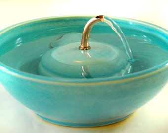 "Cat Water Fountain - ""Seychelles Serene"""