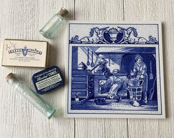 Pharmacist's Laboratory Vintage Delft Tile Apothecary