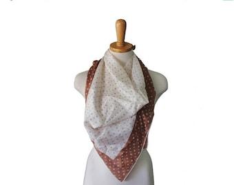 sale // Vintage 50s Atomic Print Fashion Scarf - Silk - Midcentury Fashion