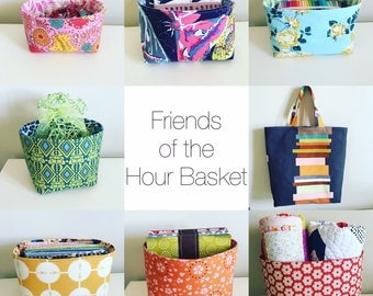 Friends of the Hour Basket Pattern