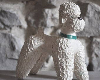 Vintage French Poodle Sculpture Dog Figurine 1950s