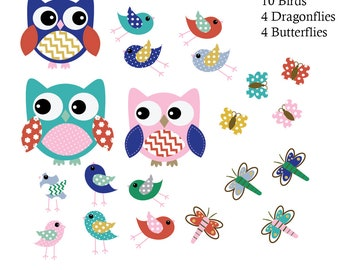 Kids Vinyl Decals, Owl Decals, Baby Wall Decals, Nursery Wall Decals
