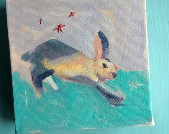 I Want to go on Home: Bunny Painting