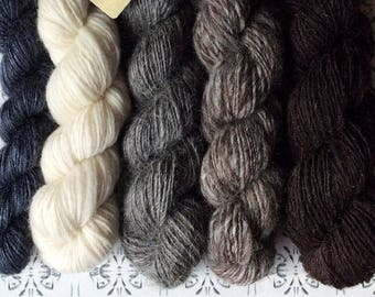 "Riddaren Rider - ""Once upon a time"" collection of handspun shawl yarns"