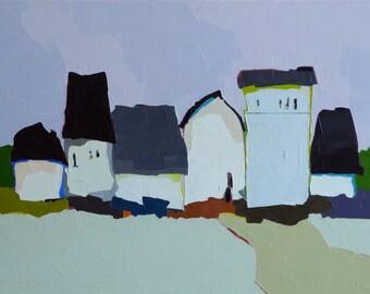 Lavender Variation - Oil Painting 18x24 On Canvas, Original Landscape Painting