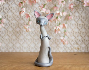 Blue Point Siamese Cat Sculpture by Bonjour Poupette