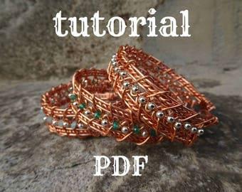 PDF Tutorial Wire Wrapped Bracelet Ester Bracelet. Bilingual.