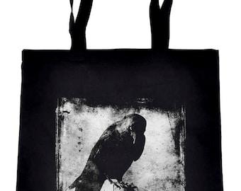 Evil Eye Raven Crow Tote Book Bag Dark Alternative Clothing Handbag Nevermore - TB-2017058
