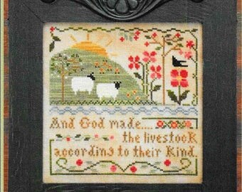 Counted Cross Stitch Pattern, Sixth Day of Creation, Cross Stitch, Cross Stitch Pattern, Scripture, Little House Needlework, PATTERN ONLY