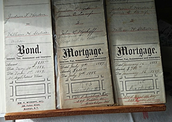 Antique Documents-Vintage Legal Papers-Old Mortgage
