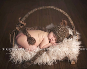 Latte Faux Flokati Fur, Fur Blanket, Photography Prop, Faux Fur Rug, Newborn Fur, Newborn Baby Photography
