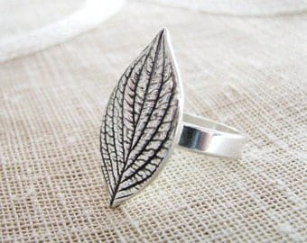 Simplicity, Sterling Silver Botanical Ring, Natural Plant Reproduction, Handmade by SilverWishes