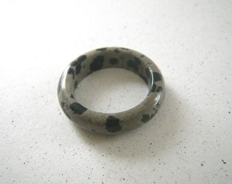 Dalmatian Solid Stone Ring - Size 6 1/2