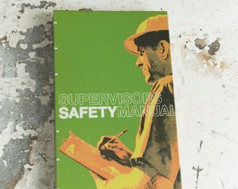1973 SAFETY MANUAL Vintage Sketch Notebook Journal
