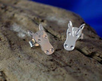 Horse Studs, Handmade, Sterling Silver, Horse heads, Horses,Horse Jewellery, Animal Jewellery, Horse gift, Pony earrings, Horse Earrings