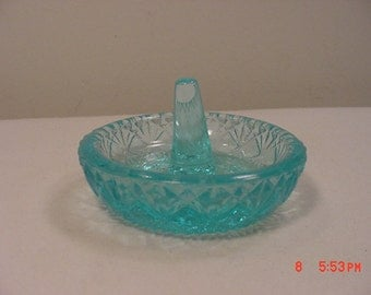 Vintage Fenton Blue Glass Ring Holder  17 - 276