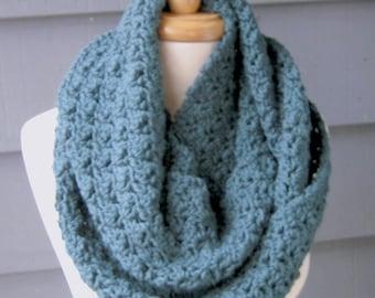 PATTERN S-012 / Crochet Pattern / Arissa Infinity ... worsted 350 yards
