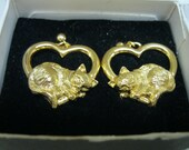 Vintage Avon Cuddly Cats Earrings New Pierced Surgical Steel Posts Jewelry