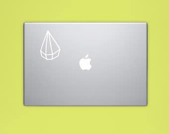 New! - Geometric Crystal VINYL Decal, Illustrated Diamond Decal, Computer Decal, Vinyl Sticker